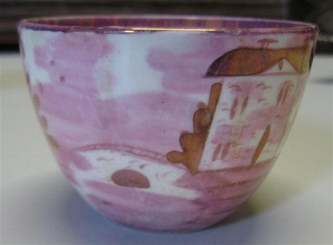 2561/Holl. Tasse vor 1800, Haarrisse, H 6 cm, EUR 45,-