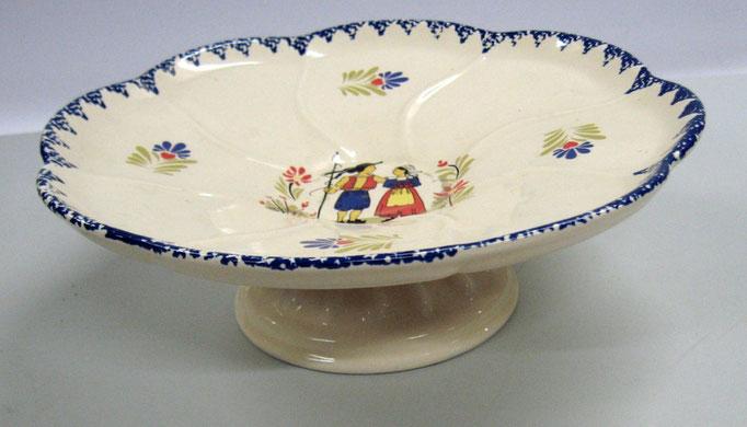 3087/Fußschale (Ungarn?) ~ 1930, o. Marke, H 9 Ø 26 cm, EUR 25,-