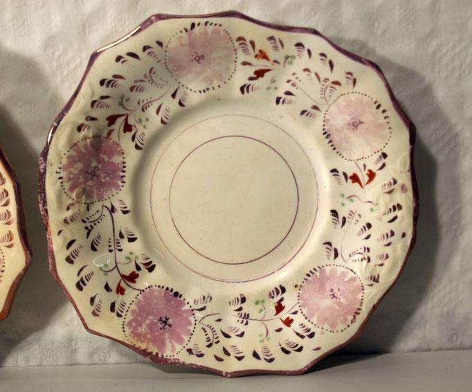 3804/2 Teller ~1830, o. Marke, handgemalt, Ø 25cm, EUR 68,-