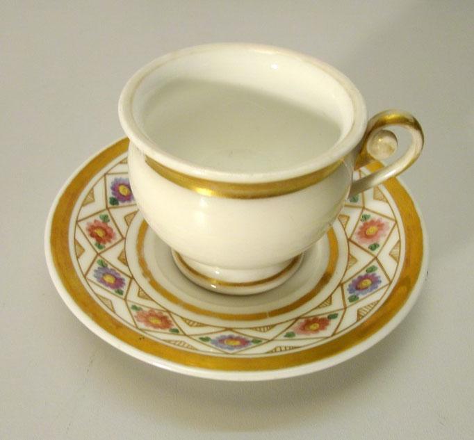 3651/Tasse ~ 1820, o.Marke, handgemalt, H 6cm, EUR 34,-