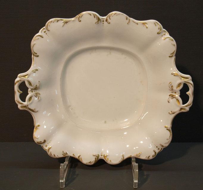 4204/ Porzellanschale ~1880, o.Marke, L 27, B 24 cm, EUR 28,-