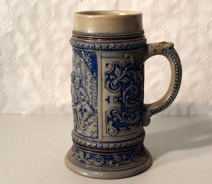 3933/Bierkrug ~ 1900, H 18, 0,5 L, EUR 38,-