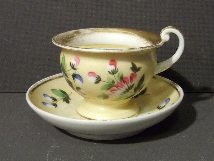 4364/ Schmucktasse ~1830, Biedermeier, handgemalt, ohne Marke, Tasse H 7cm, EUR 42,-
