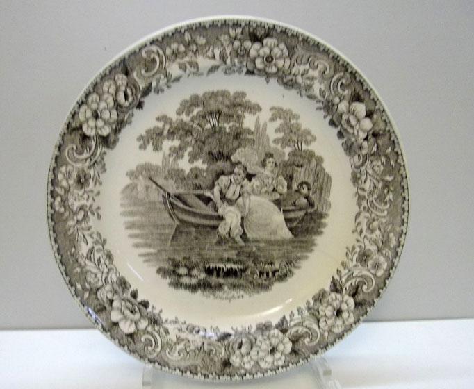 """3515/Franz. Tellerpaar, 19.Jahrh., """"Montereal"""", Ø 21 cm, EUR 30,-"""