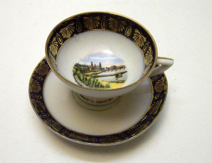 """3589/Mokkatasse """"Dresden"""" ~ 1900, o.Marke, H 4cm, EUR21,-"""