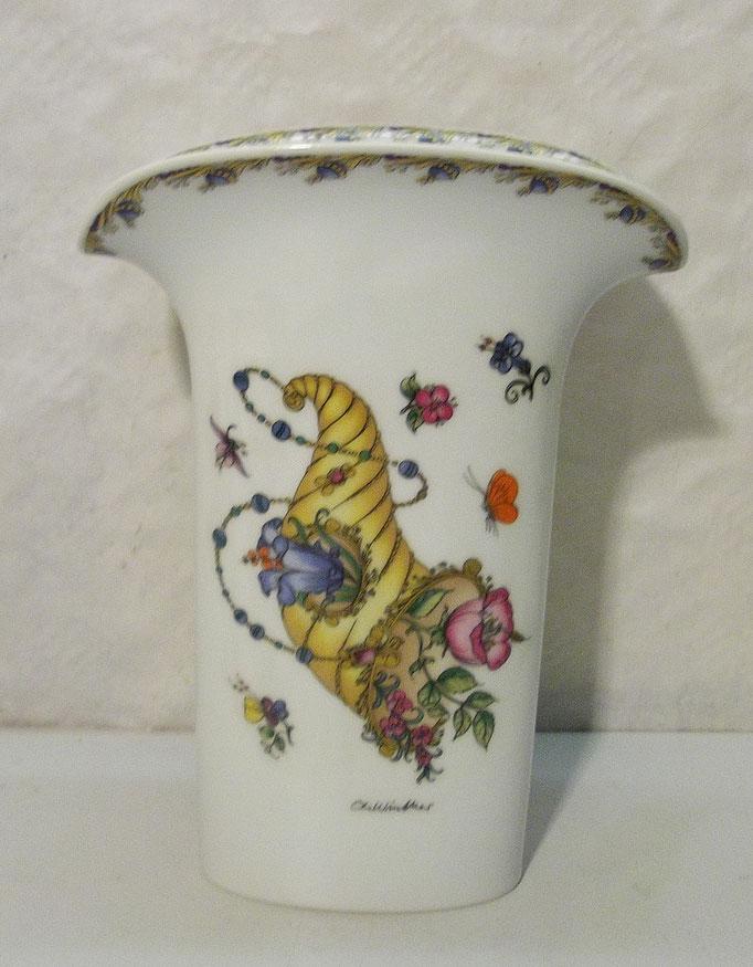 4299/ Vase ~1965, Hutschenreuther, H 24, B 18, T 10cm, EUR 42,-