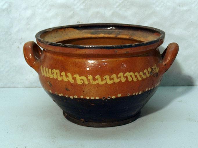 4239a/ Keramikschale o. Deckel ~ 1830, Marburg, H 12, Ø 18cm, Haarriss, EUR 58,-