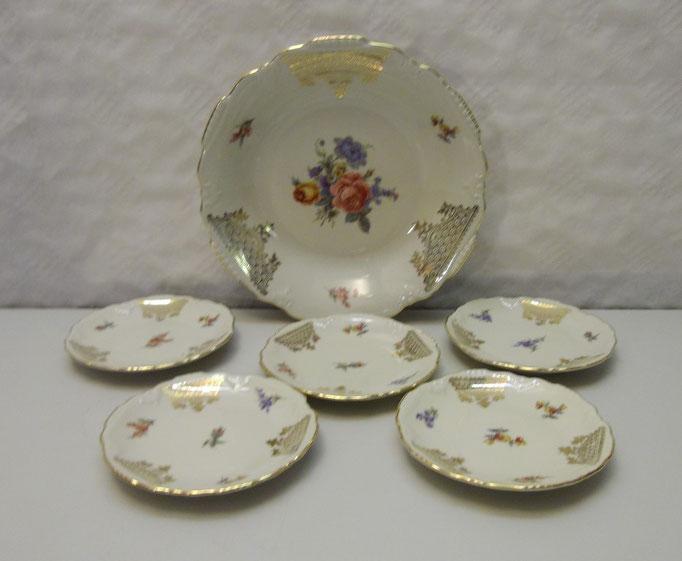 3634/Dessertteller-Set ~1930, Marke, Ø 11 u. 20cm, EUR 24,-