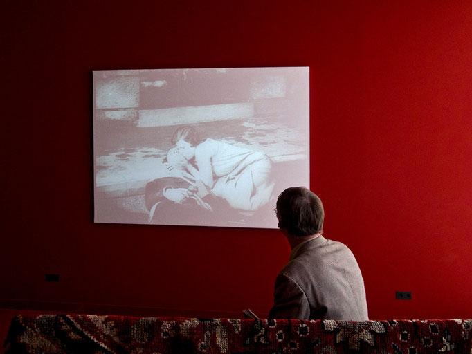 Filmvorführung, hier Un Chien Andalou, Luis Bunuel