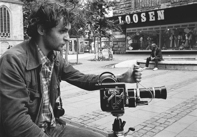 """Dreharbeiten zum Film """"Die Axt"""", 1983"""