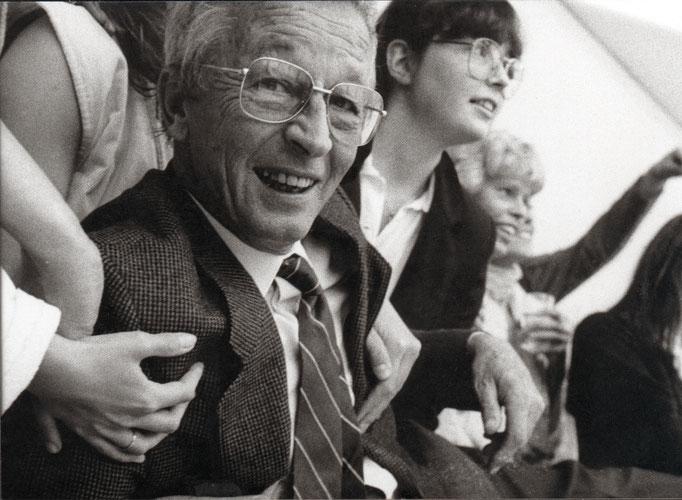 Verabschiedung Professor Max Kratz, Bildhauerei Universität Essen, 1985