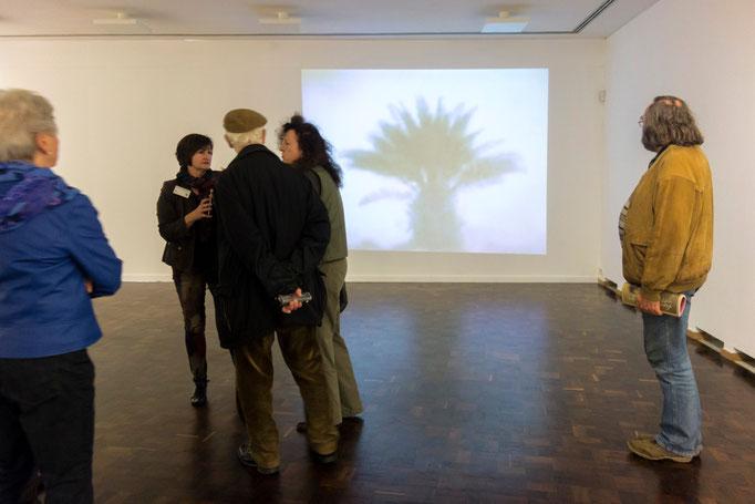 """Barbara Hlali,""""painting paradise"""", 2008, Trickfilm (Gouache auf TV-Bildschirm, Videostills)"""