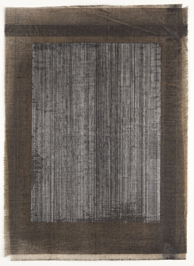2014, steel drawing and graphite on linen,43x30