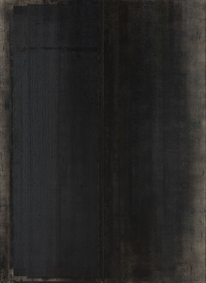 2015, Shadow Architecture, diptyque, each 300 x 100 cm, graphite-oil on canvas,