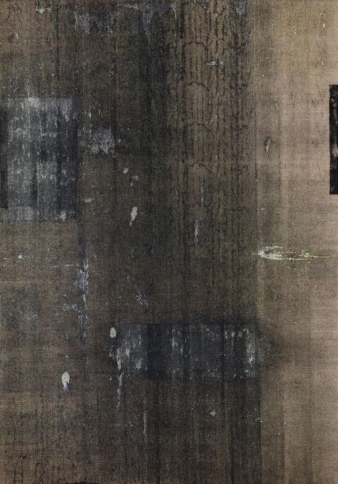 2016, Vertical Landscape,  280x200 cm, graphite-oil on canvas