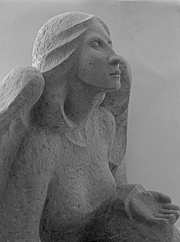 Grabstein Ägeri, Zug  -  Engel Vollplastisch        -       Bildhauerei Wiedemer Basadingen - Thurgau