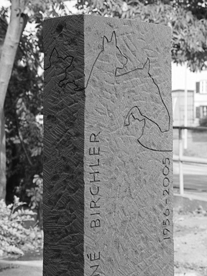 Grabstein Einsiedeln, Schwyz   -   Tierarzt graviert       -         Bildhauerei Wiedemer Basadingen - Thurgau