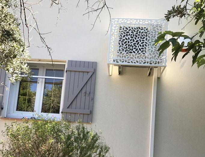 cache climatiseur avec trappe de visite