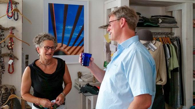 Petra (Bebba) Maderspacher und Ralph Oehlmann freuen sich gemeinsam