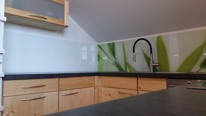Glasrückwand, Küchenrückwand - Digitaldruck - © Glaserei Allgäuer