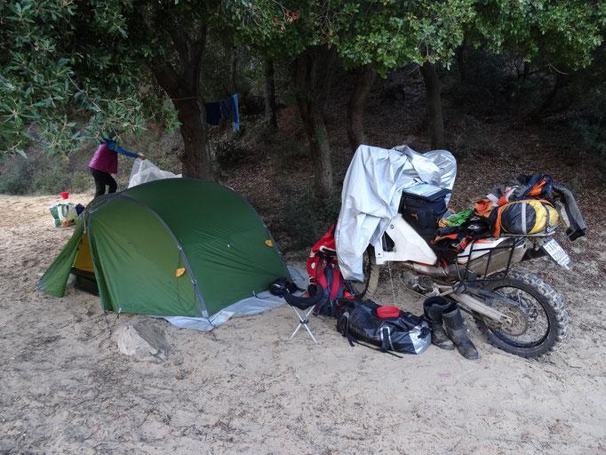 De-Lux Bush-Camp in Sardinien