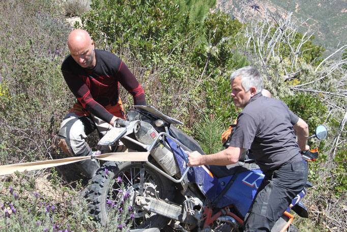 Korsika April 2016 Marius nach einem Spektakulären Abflug...