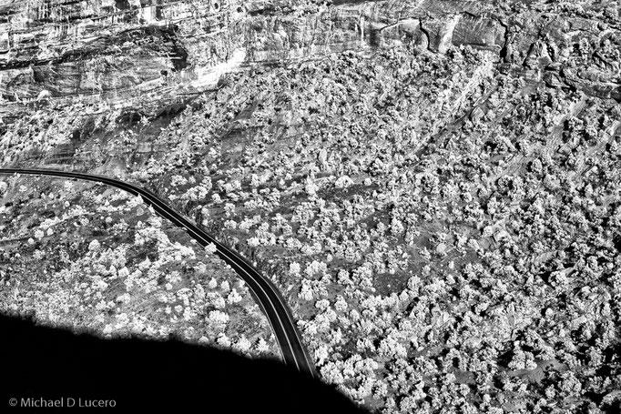 Road through canyon and scrub