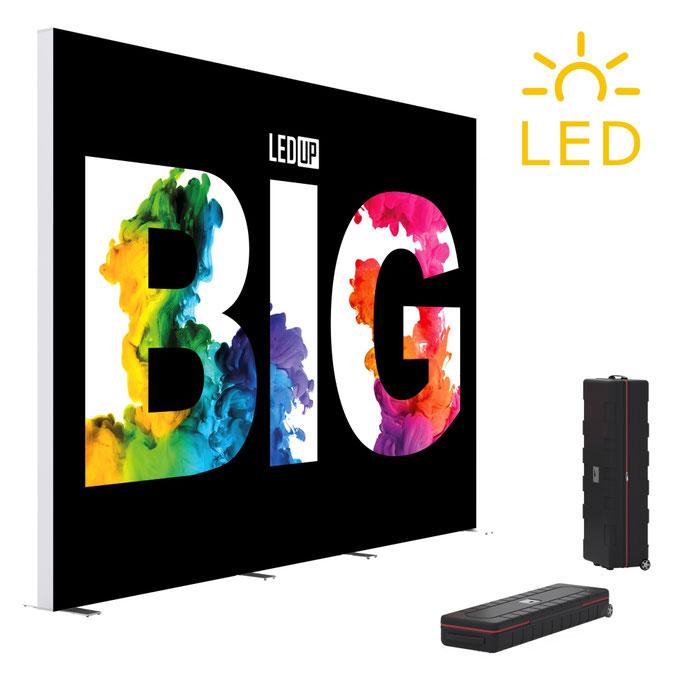 BIG LEDUP Leuchtdisplay LED-Messewand