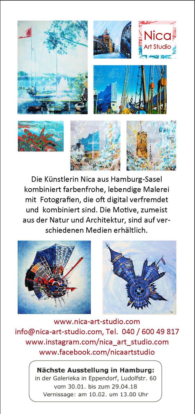 Flyer Front von Nica Hamburg Januar 2018