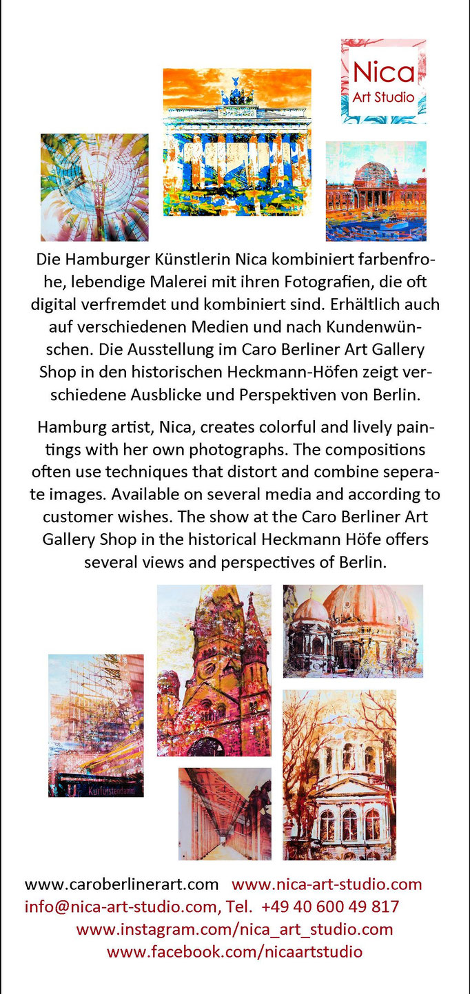 Flyer Front von Nica Berlin Januar 2018