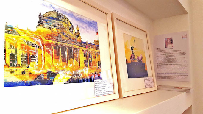 Artworks in the Caro Berliner Art Gallery Shop.