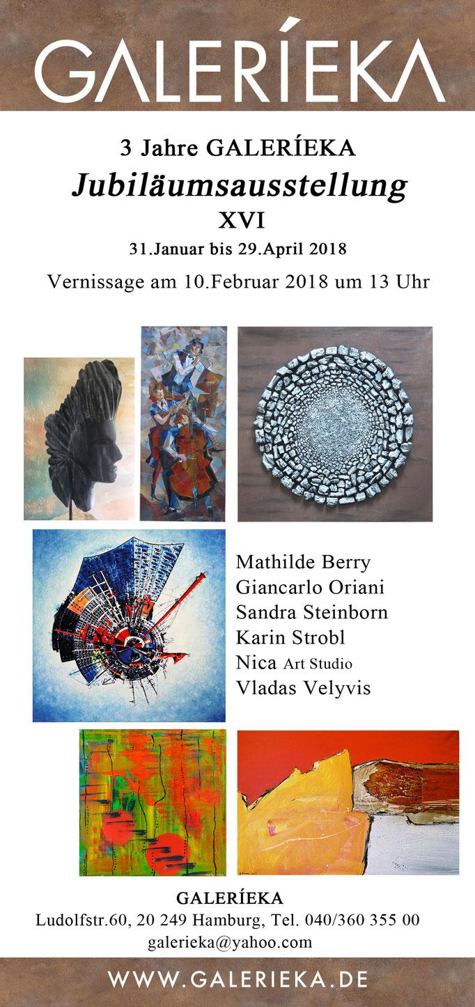 Flyer der Galerieka Januar 2018