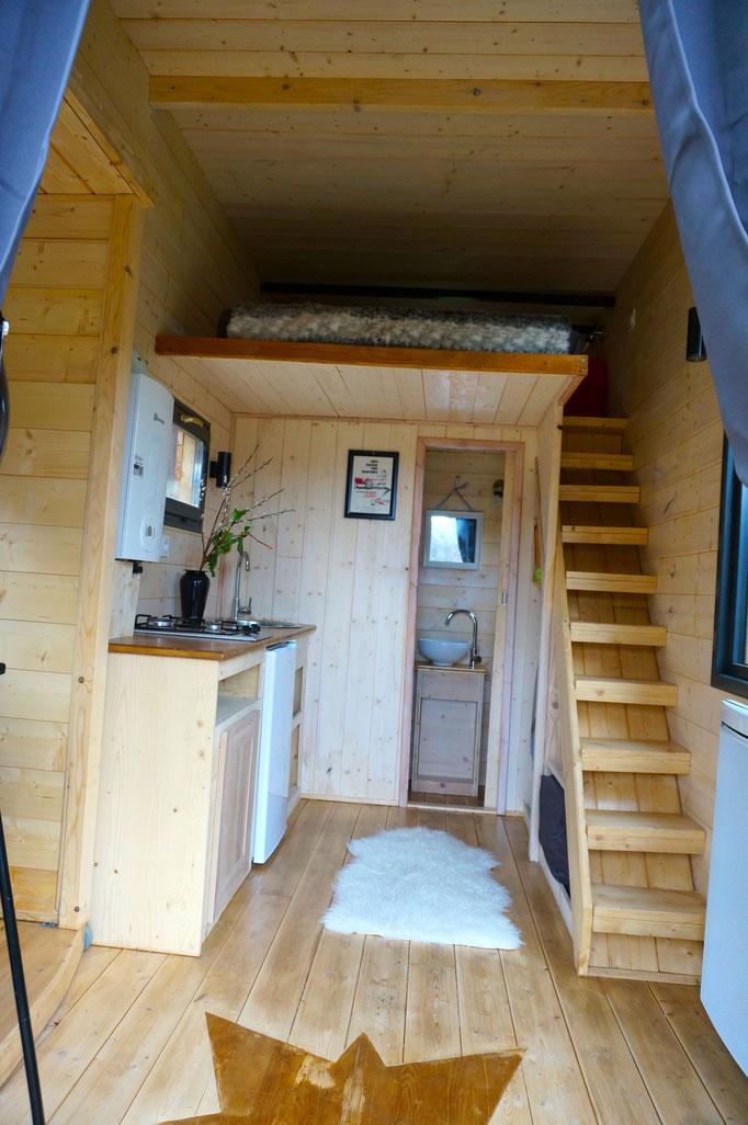 Interieur tiny house by Jardin Boheme
