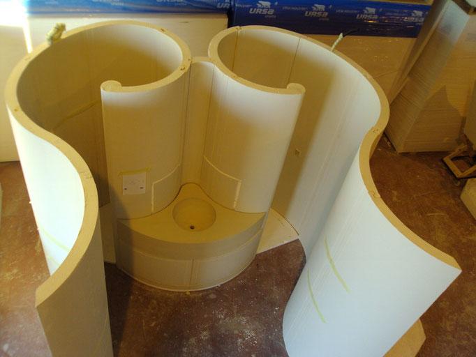 Vasos y estructuras en poliestireno