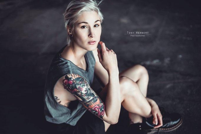 Tattoo Frau Portrait