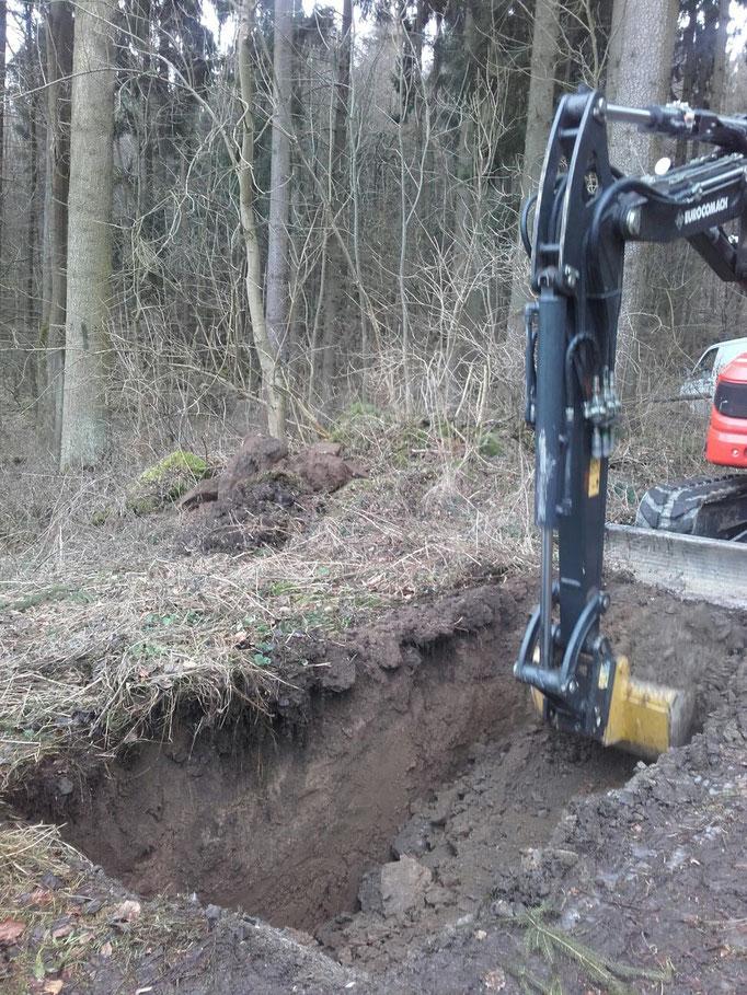 Auch im Wald liegen Trinkwasserleitungen...