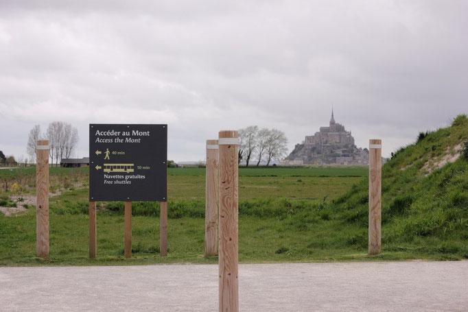 Accéder au mont St Michel