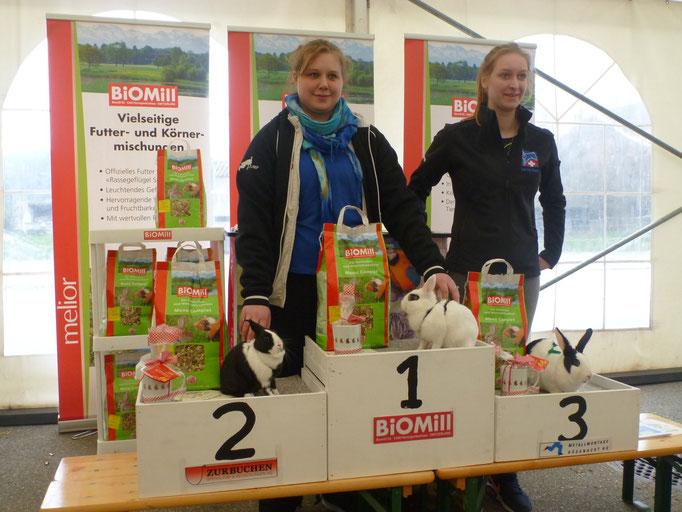 Die Stolzen Gewinner. Auf Platz 1 & 2 Katharina Wermuth und auf Platz 3 Katharina Lehnhardt