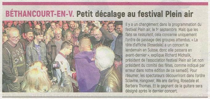 Article de l'Aisne Nouvelle
