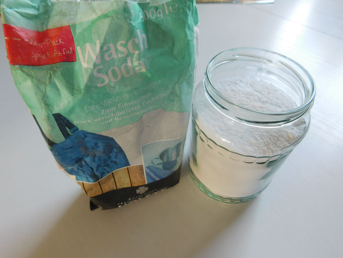 Wasch-Soda abfüllen