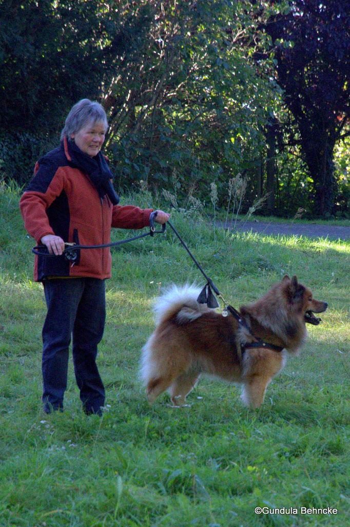 Ingrid Winkens-Wegner mit Buddy von der Wettloopsheide