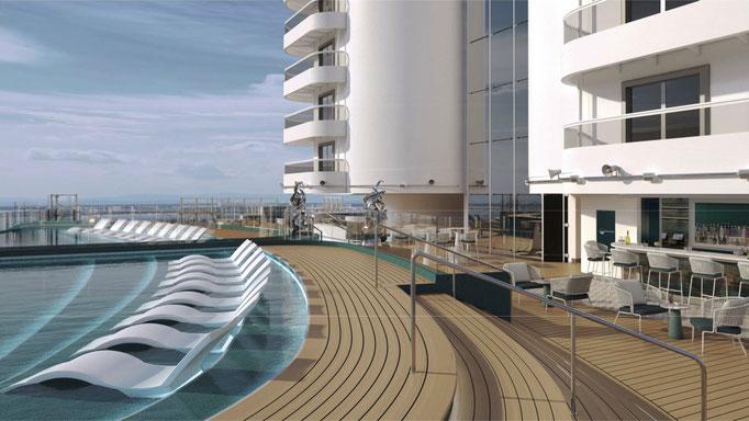 Neuer Infinity Pool auf Deck 8