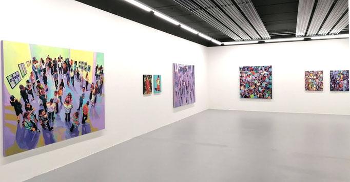 """Ausstellungsansicht, Anton Petz, """"Ornament der Masse"""" 2020 - 2021"""