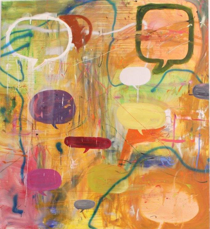 """Ronald Kodritsch, """"BUBBLES"""", Öl/Leinen, 180x160 cm"""