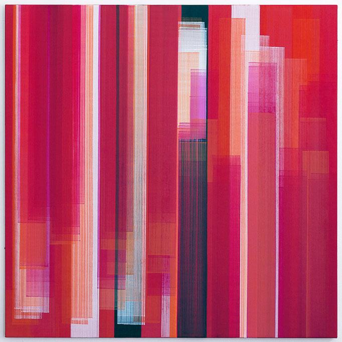 Elisabeth Sonneck, o.T.3 / 1, 2017, Öl auf Leinwand, 145 x 145 cm