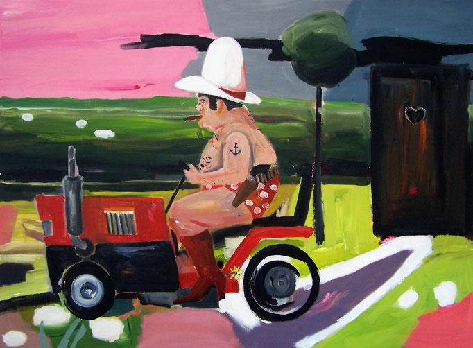 Oliver Kropf, SONNTAGVORMITTAG, 110 x 150 cm, Acryl auf Baumwolle 2019