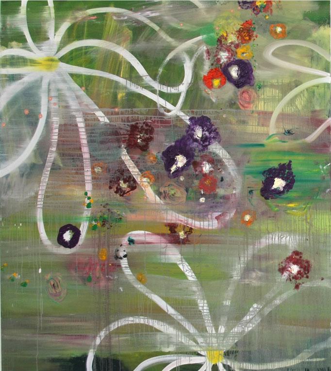 """Ronald Kodritsch, """"punky_flowers"""",Öl/Leinen, 180 x 160 cm_2019"""