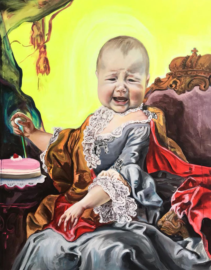 "Katharina Karner, ""o.T., 2020, Öl auf Leinwand, 180 x 140 cm"
