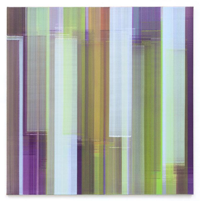 Elisabeth Sonneck, mäander, Öl auf Leinwand, 145 x 145 cm