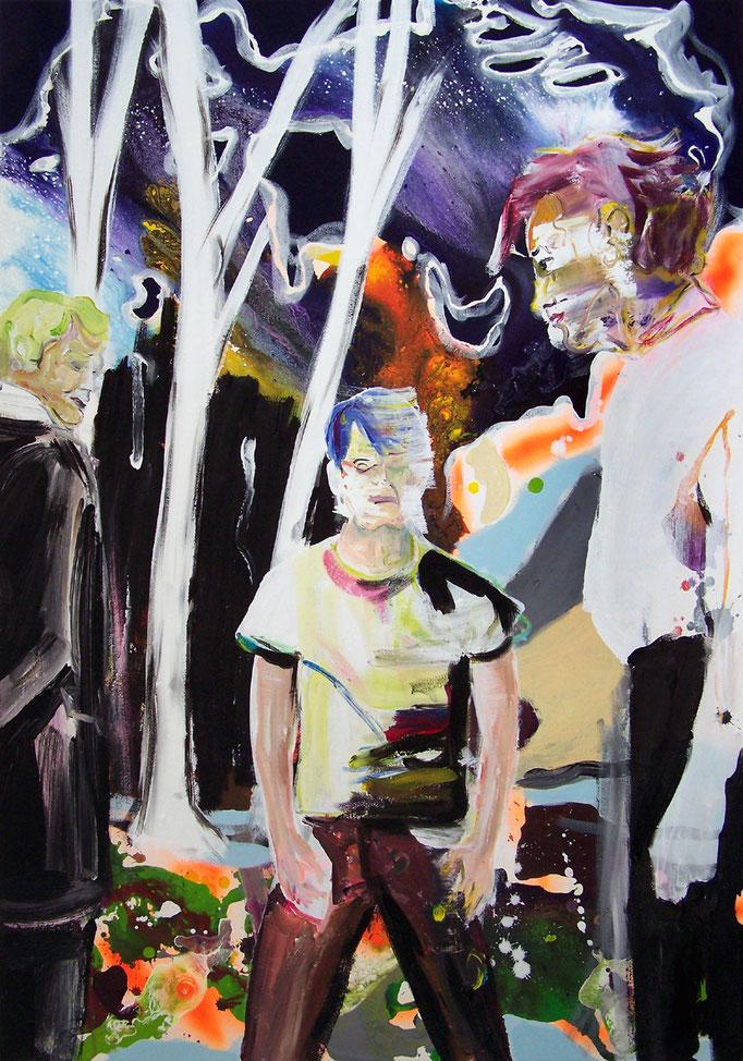 """Oliver Kropf, """"025"""" 100 x 70 cm, Acryl auf Baumwolle, 2020"""